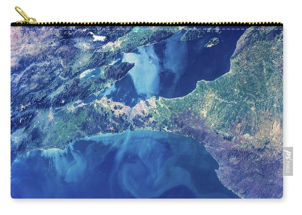 Satellite View Of Istanbul With Sea Carry-all Pouch