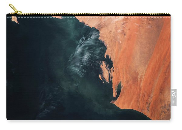 Satellite View Of Landscape, Michigan Carry-all Pouch