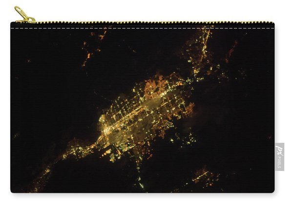 Satellite View Of Las Vegas, Nevada, Usa Carry-all Pouch