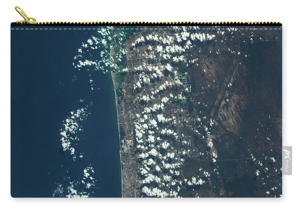 Satellite View Of Miami Along Atlantic Carry-all Pouch
