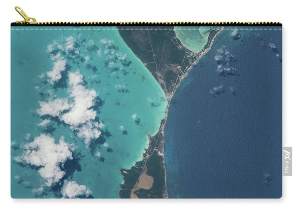 Satellite View Of North Eleuthera Carry-all Pouch