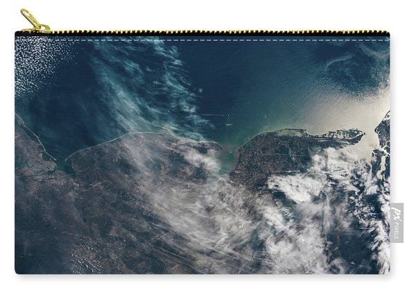 Satellite View Showing Coastal Cities Carry-all Pouch