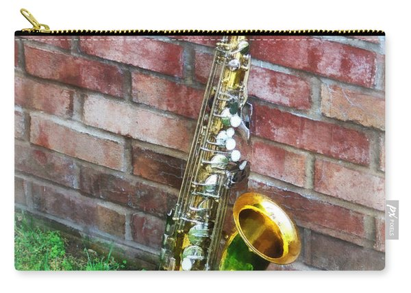 Saxophone Against Brick Carry-all Pouch