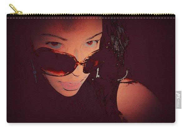 Futuristic Women Sunglasses Fashion Style Art Print Ai P. Nilson  Carry-all Pouch