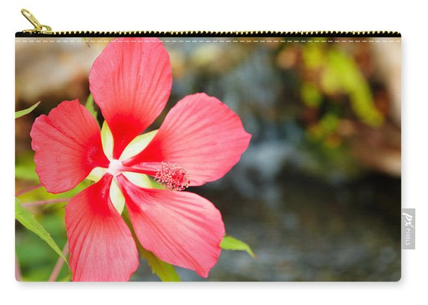 Scarlet Rose Mallow Carry-all Pouch