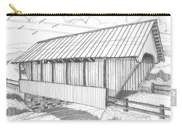 School House Covered Bridge Carry-all Pouch