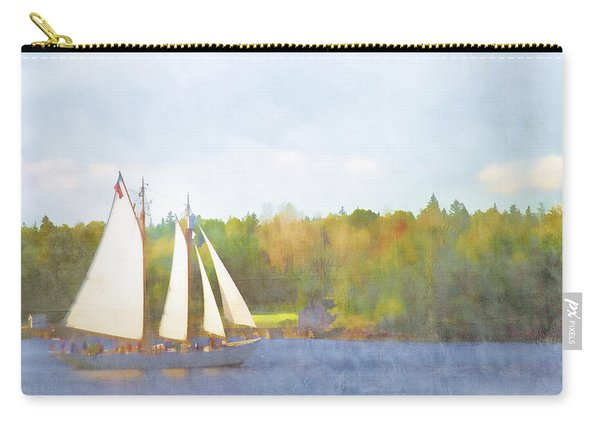 Schooner Castine Harbor Maine Carry-all Pouch