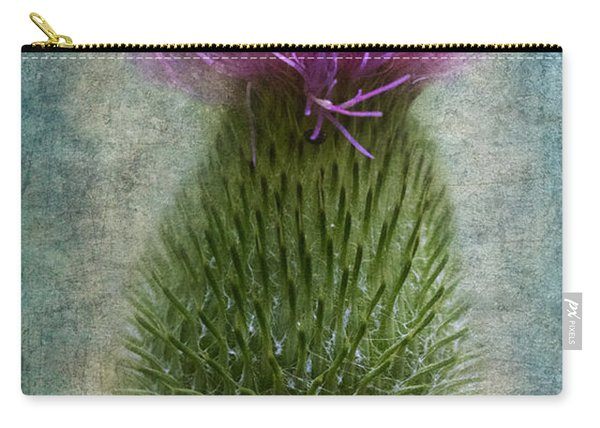Carry-all Pouch featuring the photograph Scotch Thistle by Garvin Hunter