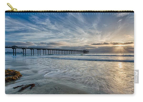 Scripps Pier Sky And Motion Carry-all Pouch