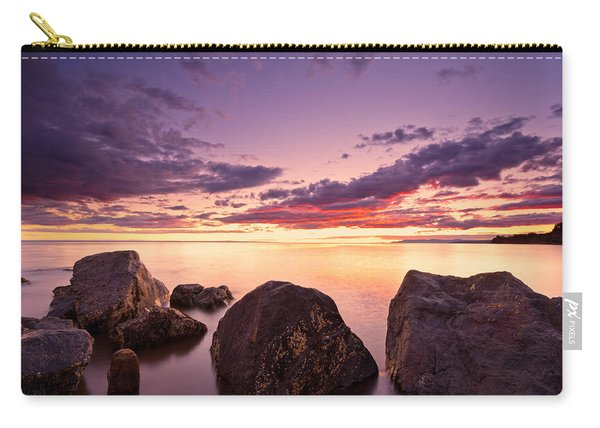 Sea At Sunset The Sky Is In Beautiful Dramatic Color Carry-all Pouch