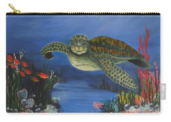 Sea Turtle In Paradise Carry-all Pouch