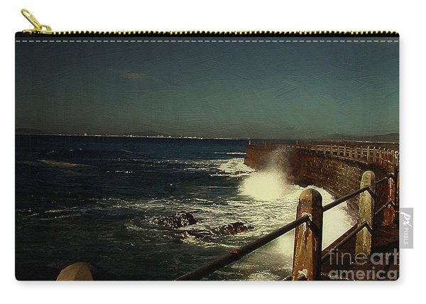 Sea Wall At Night Carry-all Pouch