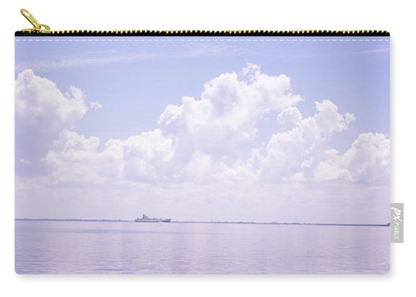 Sea With A Container Ship Carry-all Pouch