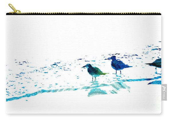 Seagull Art - On The Shore - By Sharon Cummings Carry-all Pouch