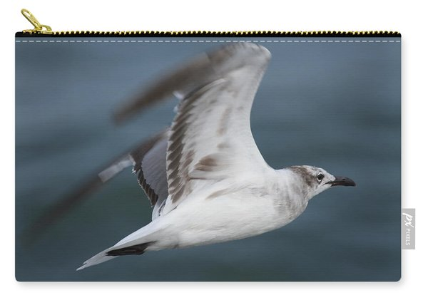 Seagull In Flight 12 Carry-all Pouch