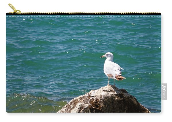 Seagull On Rock Carry-all Pouch