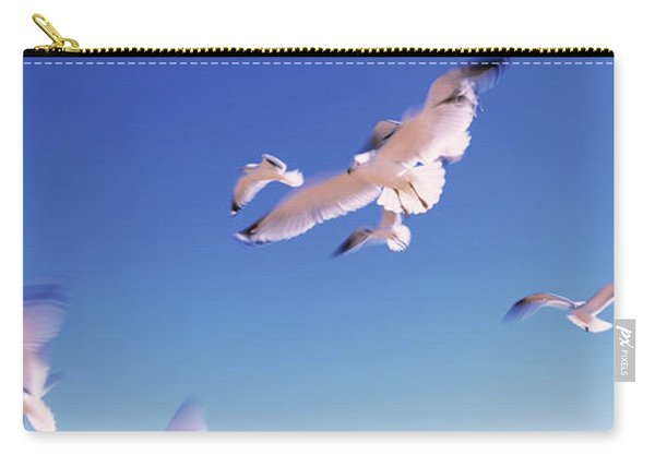 Seagulls Flying Along Route A1a Carry-all Pouch