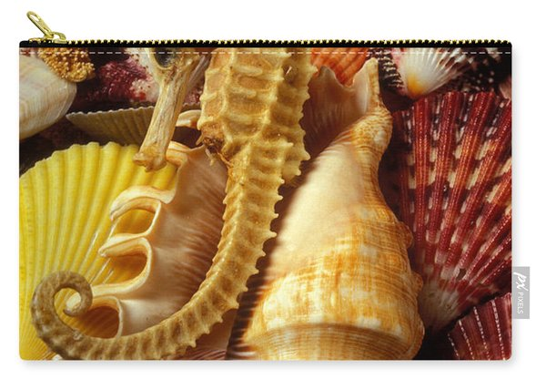 Seahorse Among Sea Shells Carry-all Pouch