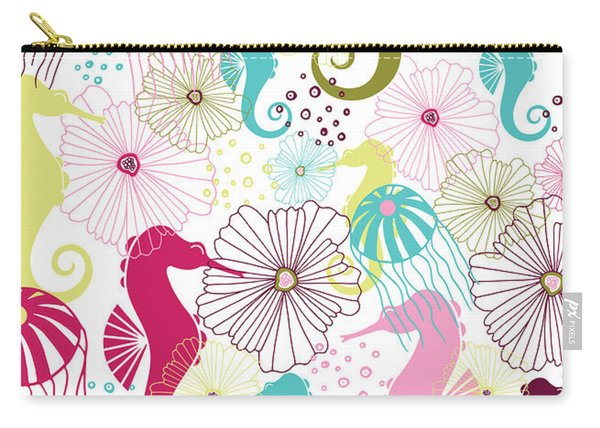 Seahorse Flora Carry-all Pouch