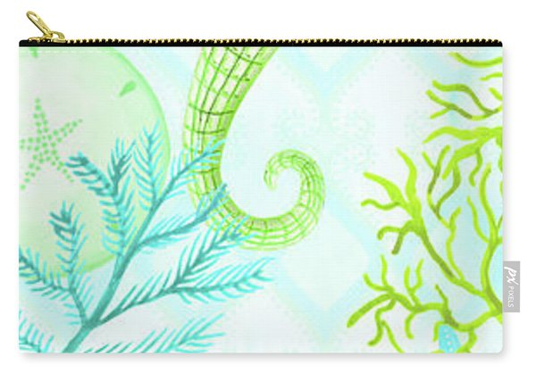 Seahorse Reef Panel I Carry-all Pouch