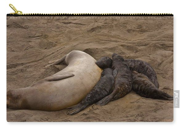 Seal And Pups Carry-all Pouch