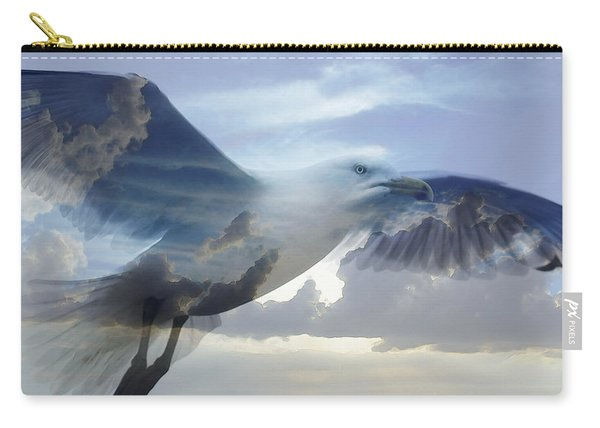 Searching The Sea - Seagull Art By Sharon Cummings Carry-all Pouch