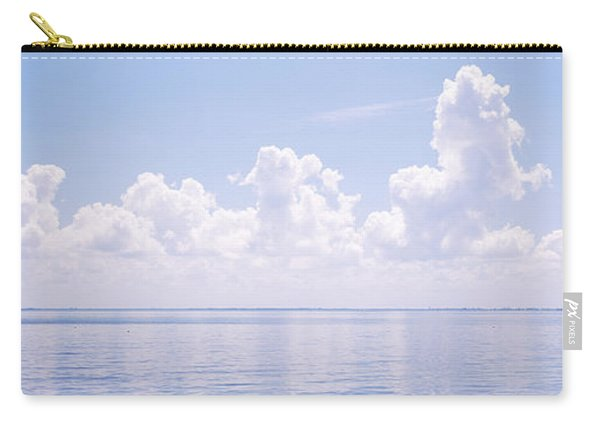 Seascape With A Suspension Bridge Carry-all Pouch