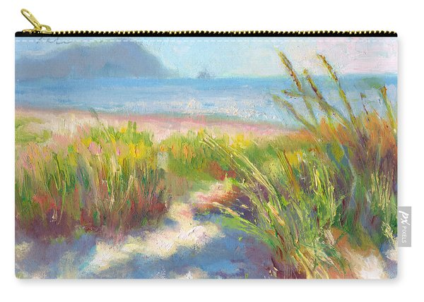 Carry-all Pouch featuring the painting Seaside Afternoon by Talya Johnson