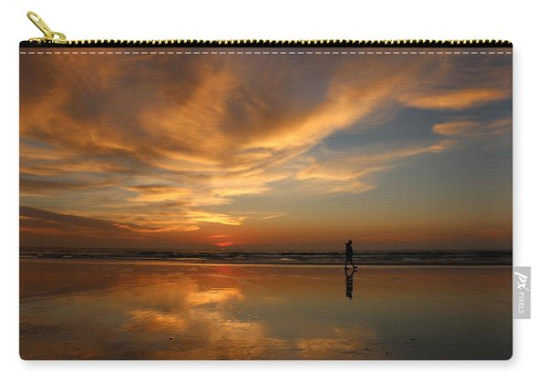Carry-all Pouch featuring the photograph Seaside Reflections by Christy Pooschke
