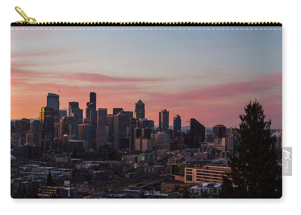 Seattle Cityscape Sunrise Carry-all Pouch