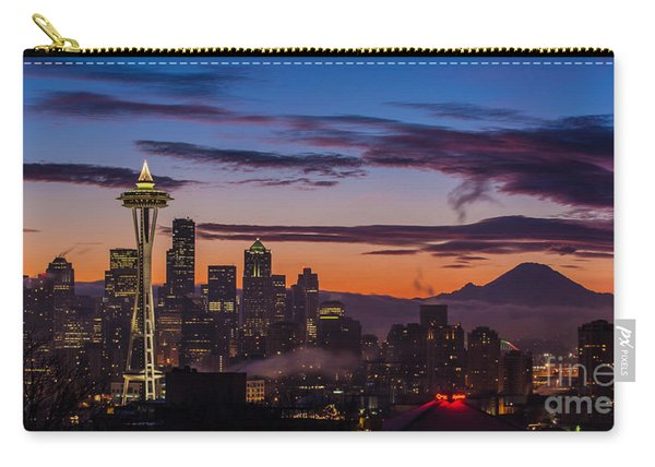 Seattle Fog Sunrise Purples Carry-all Pouch