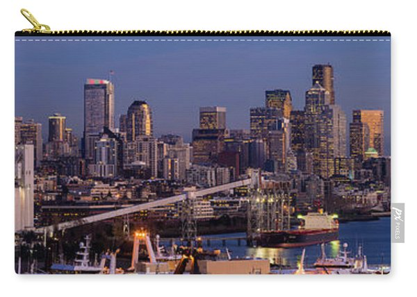 Seattle Skyline From Magnolia At Dusk Carry-all Pouch