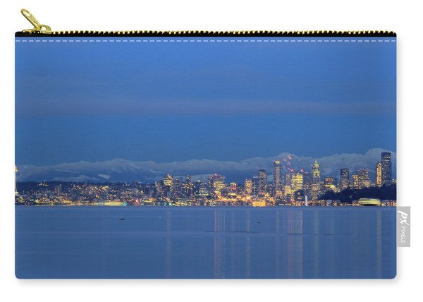 Seattle Surrounded By Blue Carry-all Pouch