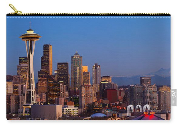 Seattle Winter Evening Panorama Carry-all Pouch