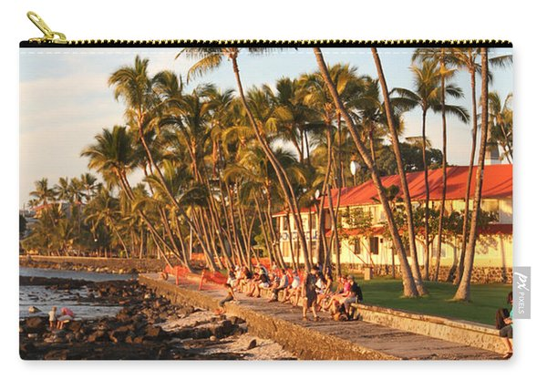 Seawall At Sunset Carry-all Pouch