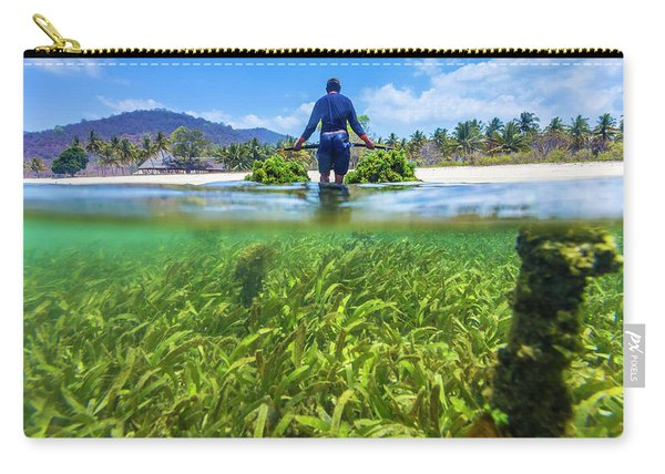 Seaweed Farm. Sumbawa. Indonesia Carry-all Pouch