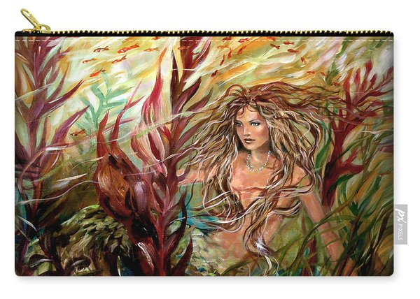 Seaweed Mermaid Pillow Carry-all Pouch