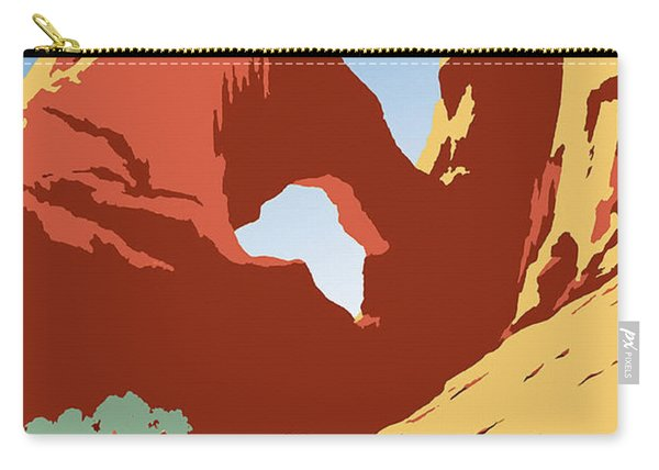 See America Vintage Travel Poster Carry-all Pouch