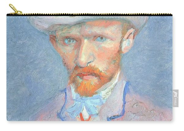 Self-portrait With Gray Felt Hat Carry-all Pouch