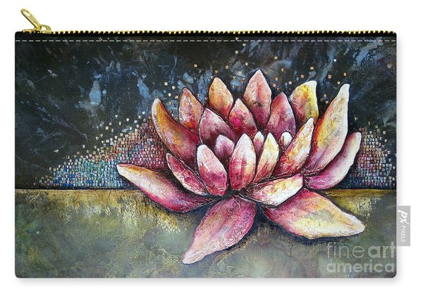 Self Portrait With Lotus Carry-all Pouch