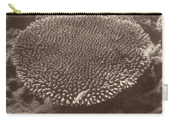 Sepia Barrier Reef Coral II Carry-all Pouch