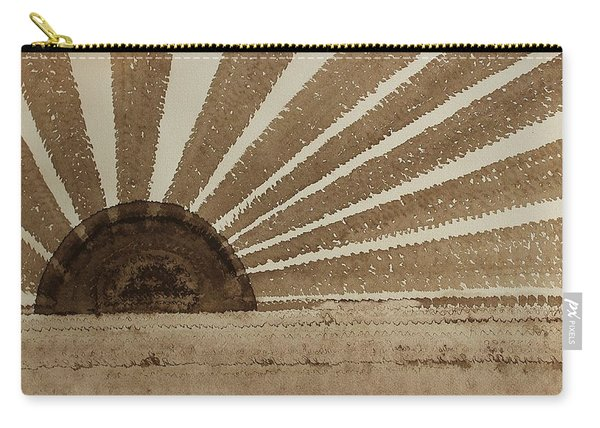 Sepia Sunset Original Painting Carry-all Pouch
