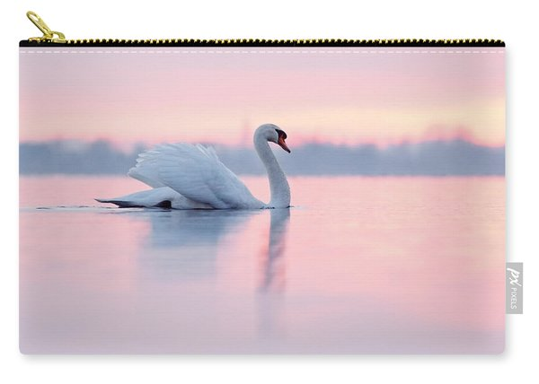 Serenity   Mute Swan At Sunset Carry-all Pouch