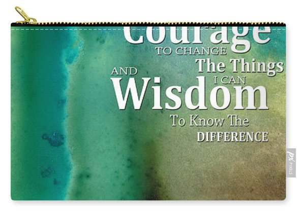 Serenity Prayer 2 - By Sharon Cummings Carry-all Pouch