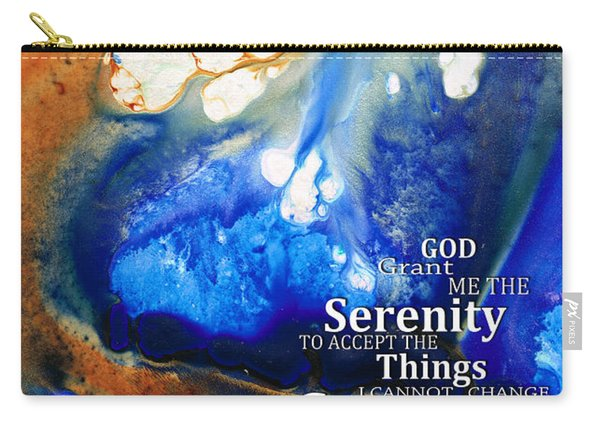 Serenity Prayer 4 - By Sharon Cummings Carry-all Pouch