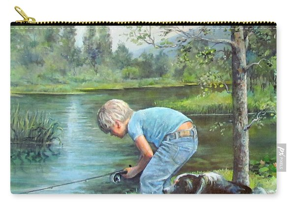 Seth And Spiky Fishing Carry-all Pouch