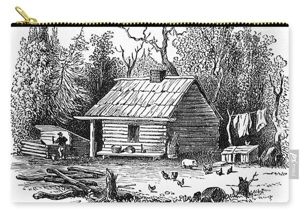 Settler's Log Cabin - 1878 Carry-all Pouch