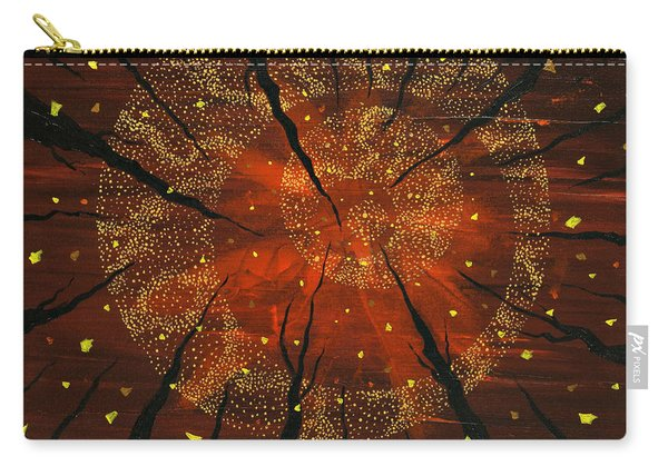 Carry-all Pouch featuring the painting Shaman's Dream by Joel Tesch