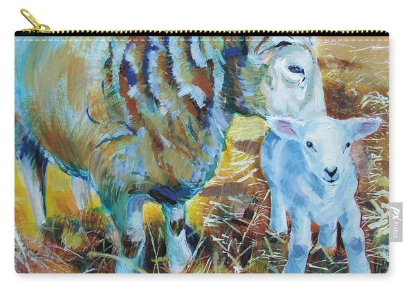 Sheep And Lamb Carry-all Pouch