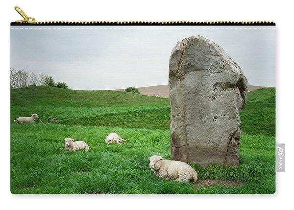 Sheep At Avebury Stones - Original Carry-all Pouch